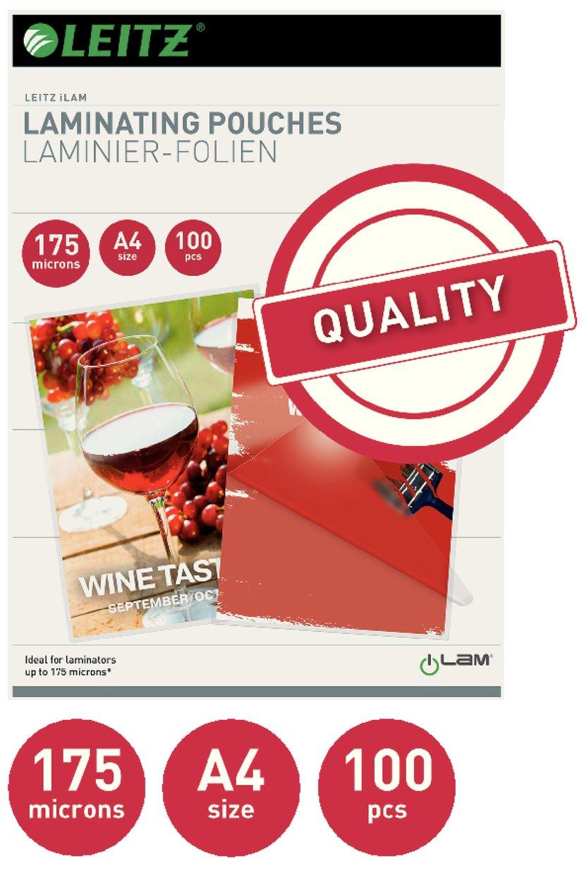 Leitz Lamineringsficka 175mic A4 100st