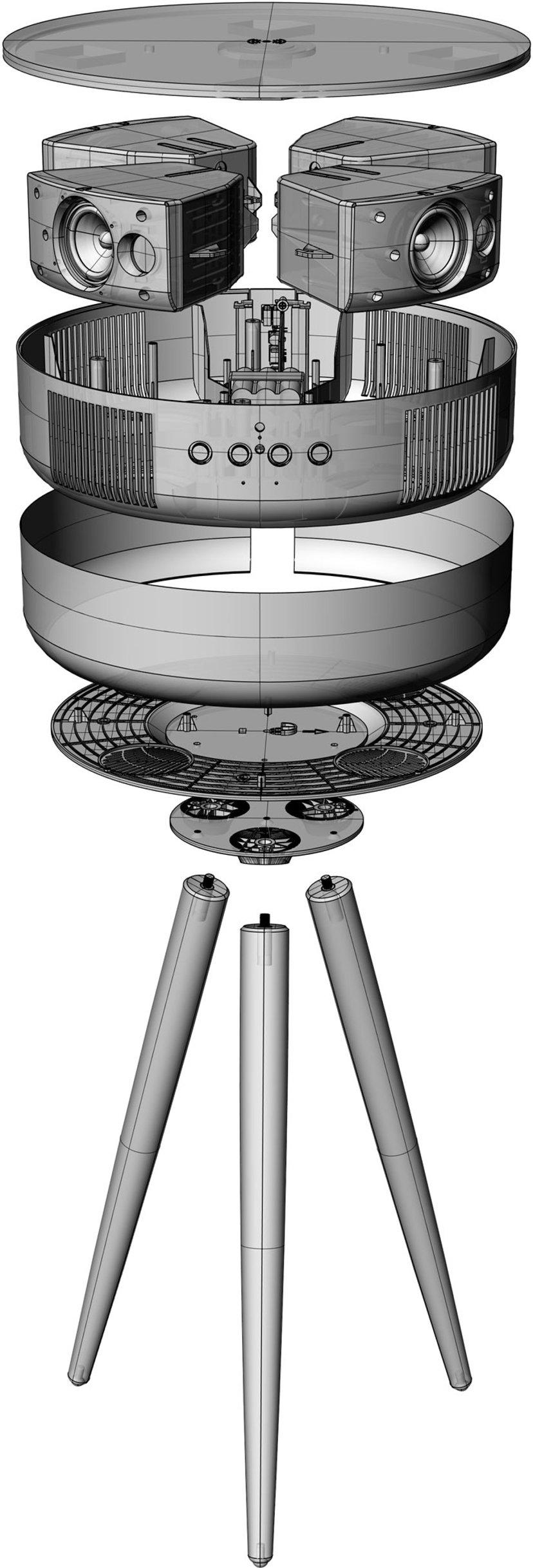 Sinox SXBT1502 Bluetooth-højtaler og bord