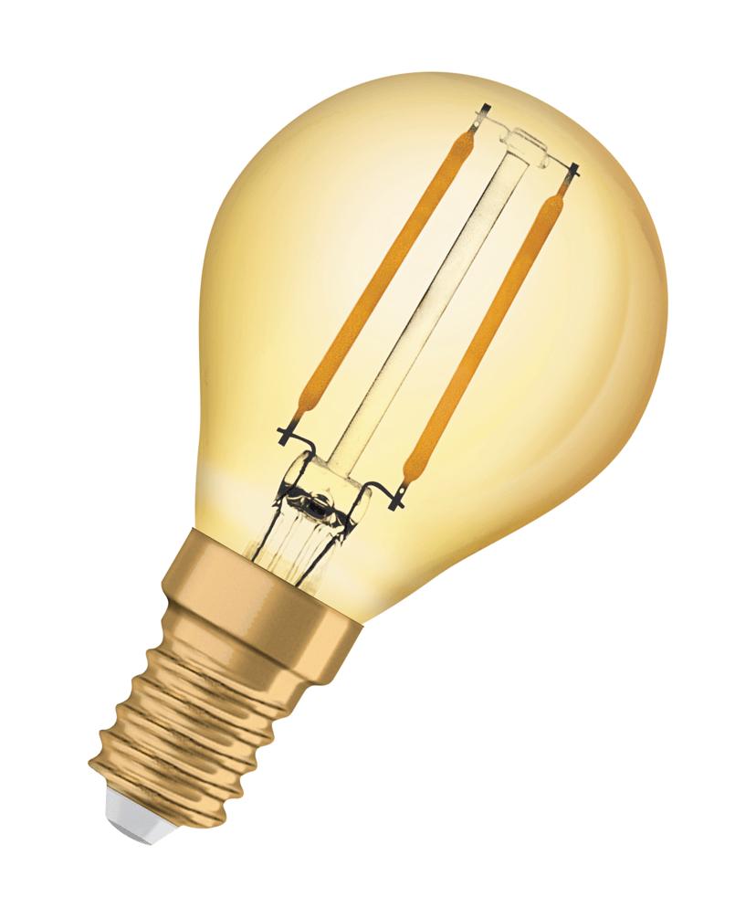 Osram Vintage Mini Ball LED 1906 2.5W 825 Filament Guld E14