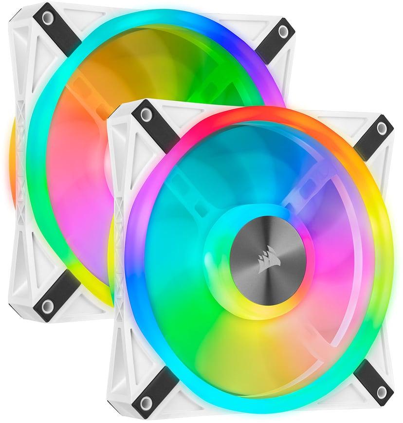 Corsair Ql140 RGB White Double Pack 140 mm