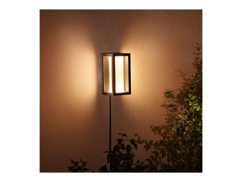 Philips Hue Outdoor Impress Wall Lantern 2X8w 24V, Black