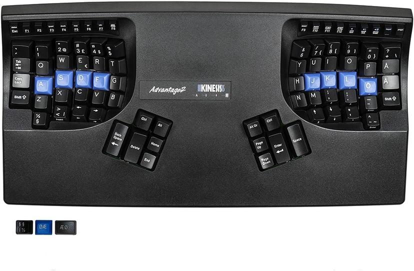 Kinesis Advantage2 Kablet Tastatur Nordisk Nordisk Svart