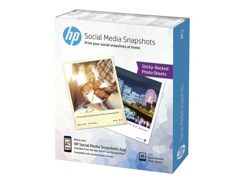 HP Papper Social Media Snapshots 10x13cm 25 Ark