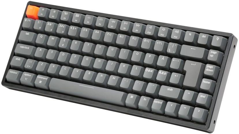 Keychron K2 RGB Aluminium Red (Version 2) Kabling, Trådløs Tastatur Nordisk Grå, Sort