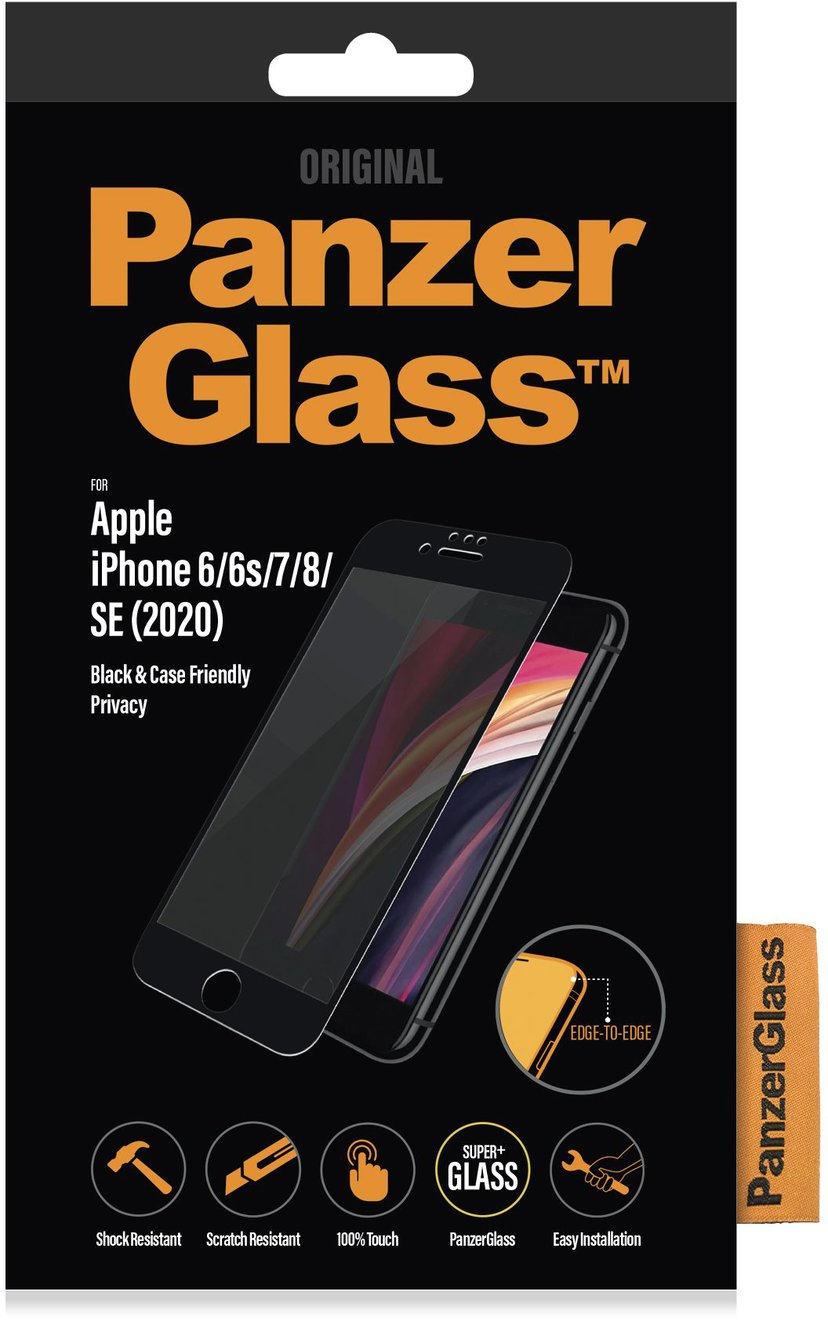 Panzerglass Black & Case Friendly Privacy iPhone 6/6s, iPhone 7, iPhone 8, iPhone SE (2020)