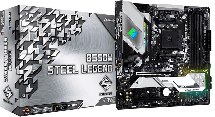ASRock B550M Steel Legend Micro-ATX Bundkort