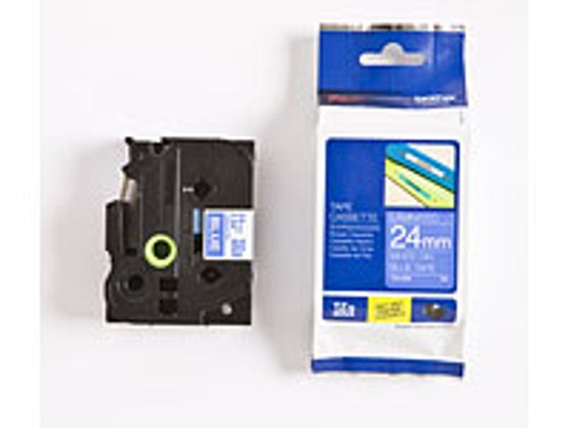 Brother Tape TZE-555 24mm Hvit/Blå