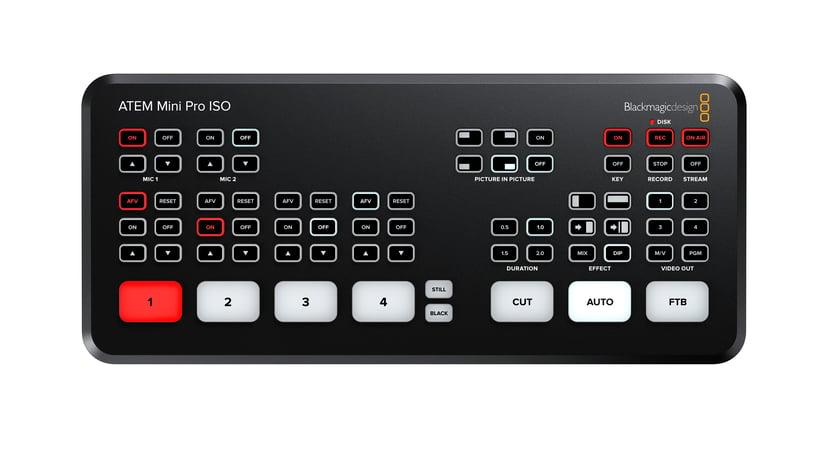 Blackmagic Design Atem Mini Pro ISO Videomixer med Multiview