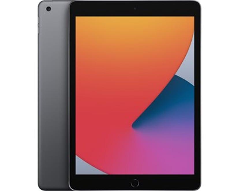 """Apple iPad 8th gen (2020) Wi-Fi 10.2"""" A12 Bionic 32GB Rymdgrå"""