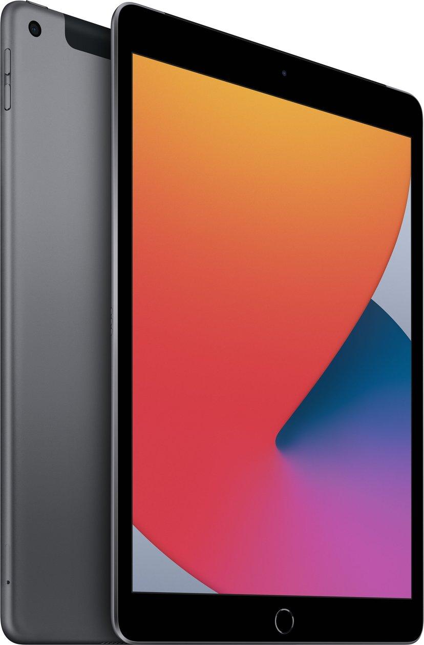 """Apple iPad 8th gen (2020) Wi-Fi + Cellular 10.2"""" A12 Bionic 32GB Romgrå"""
