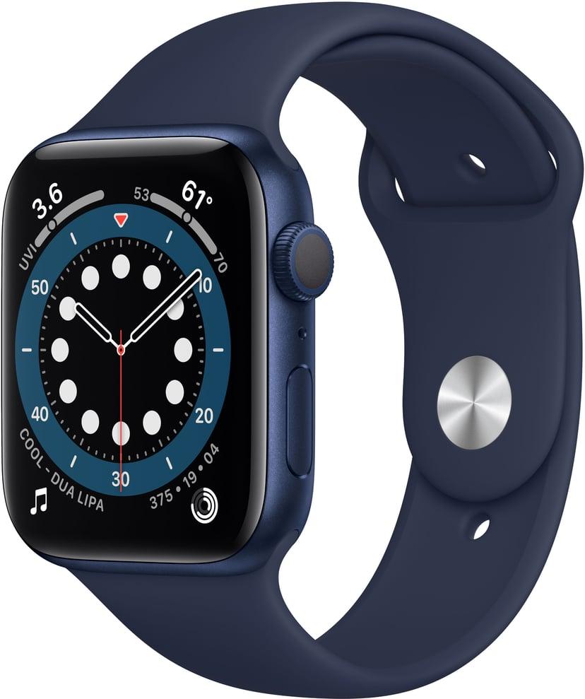 Apple Watch Series 6 GPS, 44mm Blue Aluminium Case with Deep Navy Sport Band