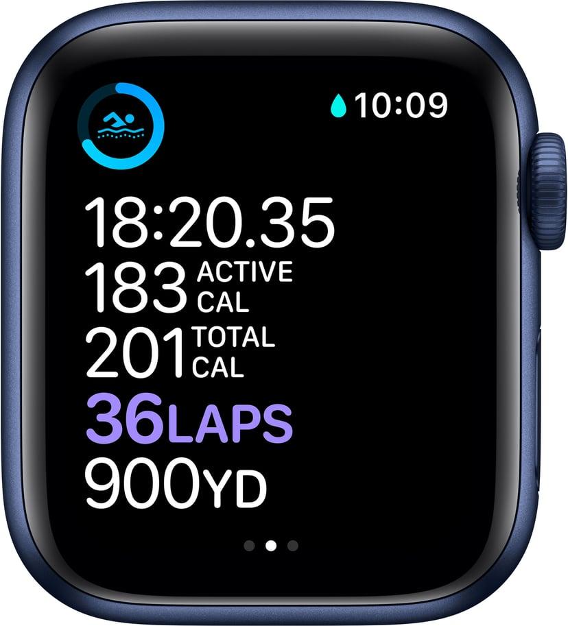 Apple Watch Series 6 GPS + Cellular, 40mm Blue Aluminium Case with Deep Navy Sport Band