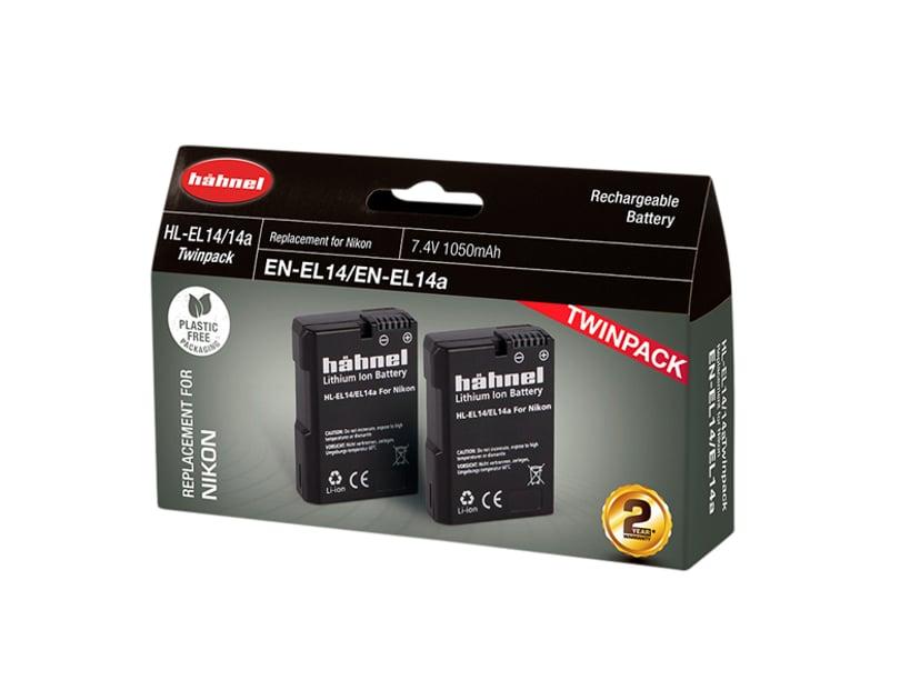 Hähnel Nikon HL-EL14/ 14A Battery Twin Pack