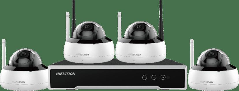 Hikvision Wireless Surveillance Kit (NVR + 4X Dome Cameras)