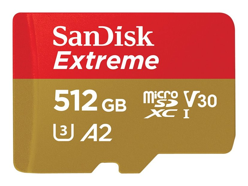 SanDisk Extreme 512GB mikroSDXC UHS-I minneskort
