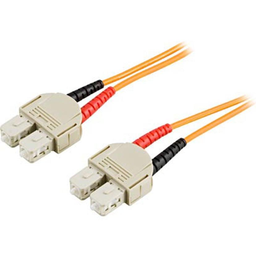 Deltaco Optisk fiberkabel SC/UPC SC/UPC OM2 10m