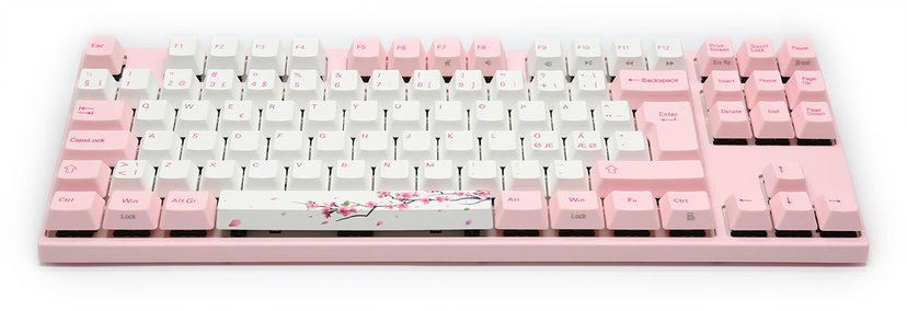 Varmilo VA88M Sakura MX Silent Red Kablet Tastatur Nordisk Hvit, Rosa