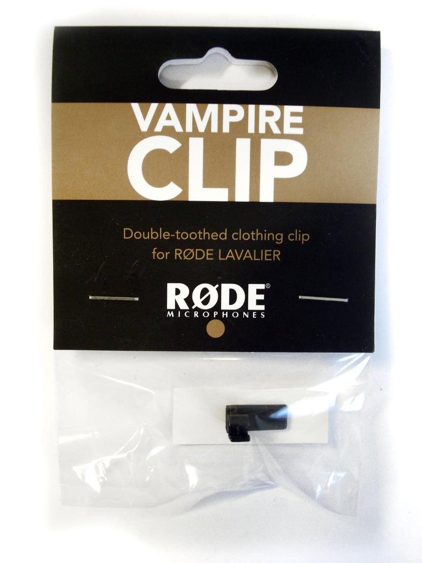 Røde VampireClip till Lavalier Svart