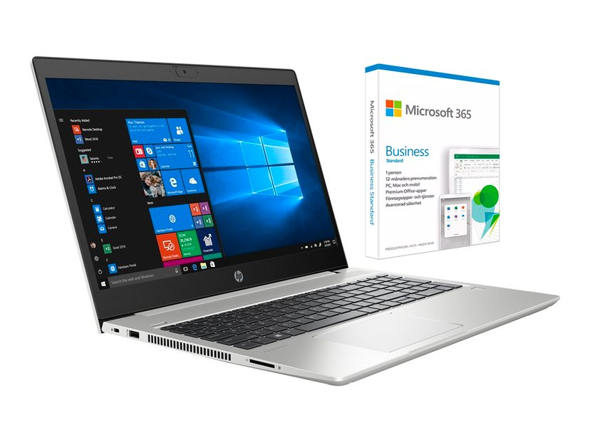 "HP ProBook 455 G7 + Microsoft 365 Business standard Ryzen 5 8GB 256GB SSD 15.6"""