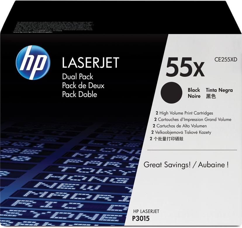 HP Toner Sort 55X 12.5K - CE255XD 2-Pack