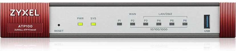 Zyxel ZyWALL ATP100 Firewall 10/100/1000 4xLAN/DMZ 1xWAN 1xSFP 1xUSB with 1 year Gold Security Pack