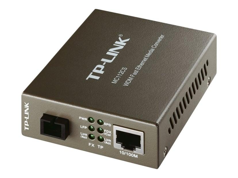 TP-Link MC112CS Fibermedieomformer RJ-45 SC enkelttilstand