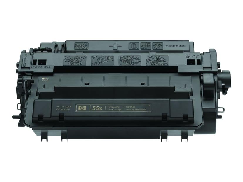 HP Toner Svart 55X 12.5K - CE255XD 2-Pack