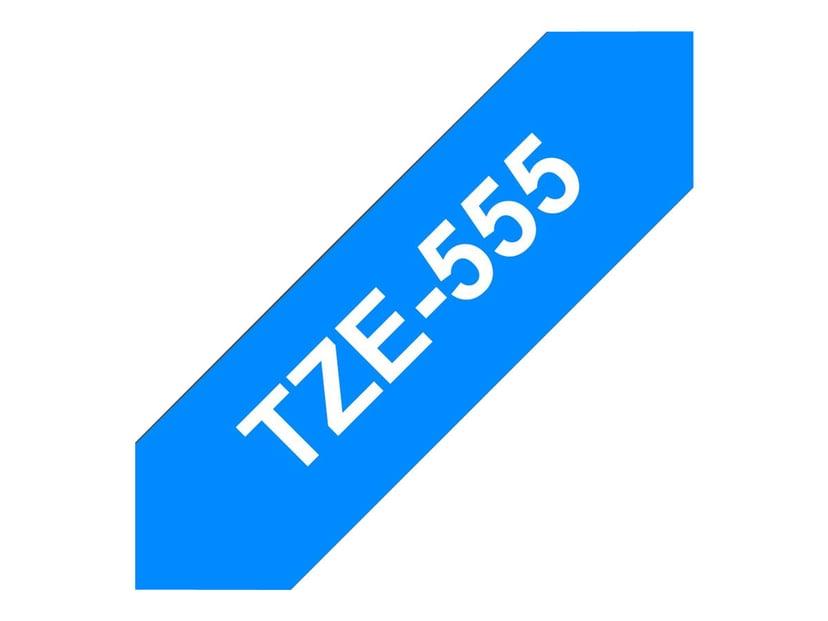 Brother Tape TZE-555 24mm Vit/Blå