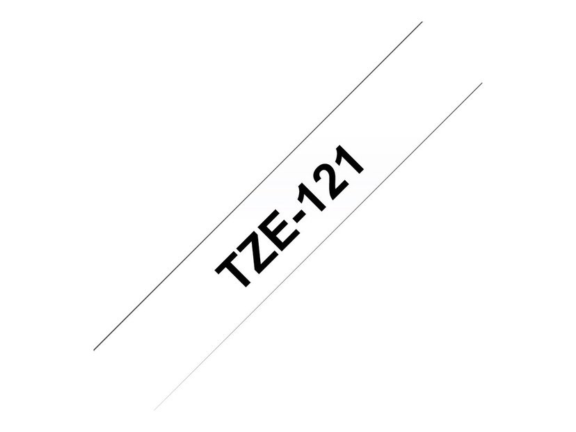 Brother Tape TZe-121 9mm Svart/Transparent