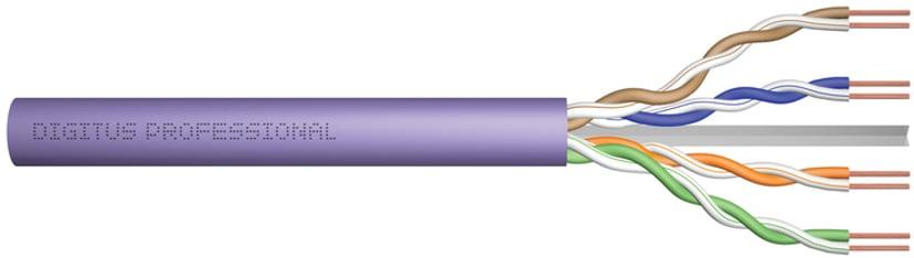 Digitus Bulk cable CAT 6 Ikke afskærmet parsnoet (UTP) Lilla 305m