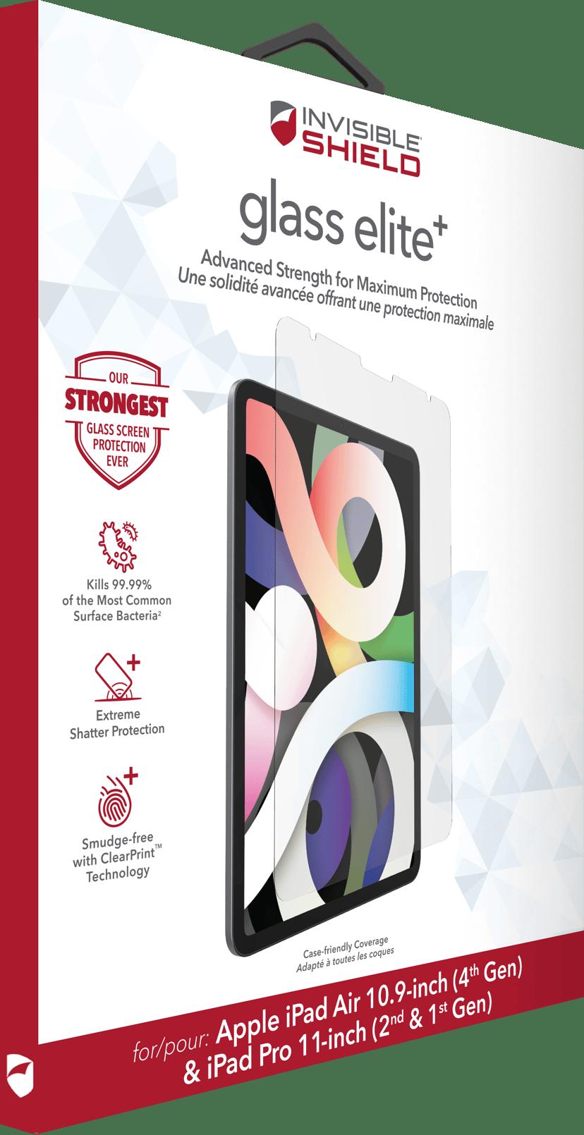 """Zagg InvisibleShield Glass Elite+ iPad Air 10.9"""" (4th gen), iPad Pro 11"""" (1st gen), iPad Pro 11"""" (2nd gen)"""