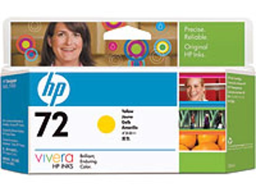 HP Muste Keltainen No.72 - T1100 130ml