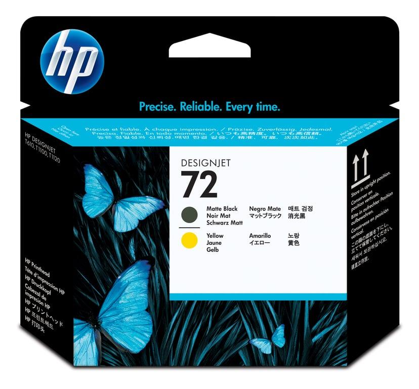 HP Printerhoved No.72 Mat Sort & Gul - T1100