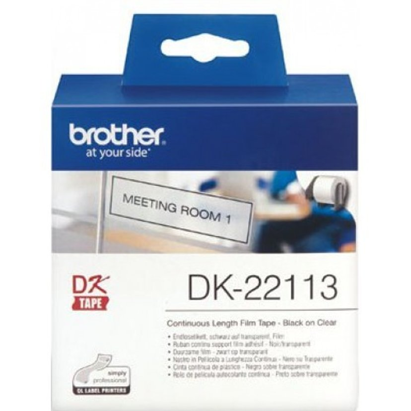 Brother Tape Plastic 62mm X 15,24m Svart/Transparent