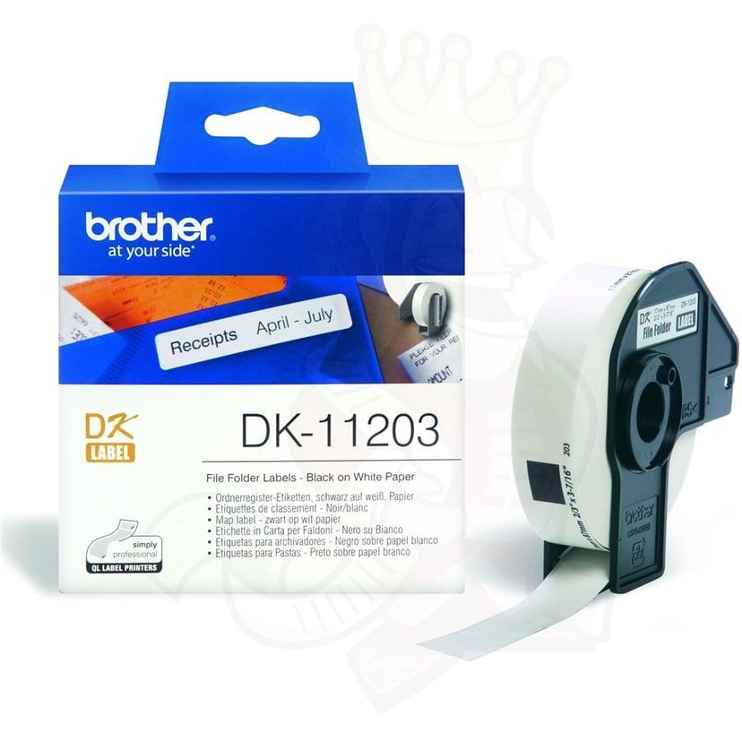 Brother Etiketter Arkiv 17 x 87mm 300st/Roll Vit