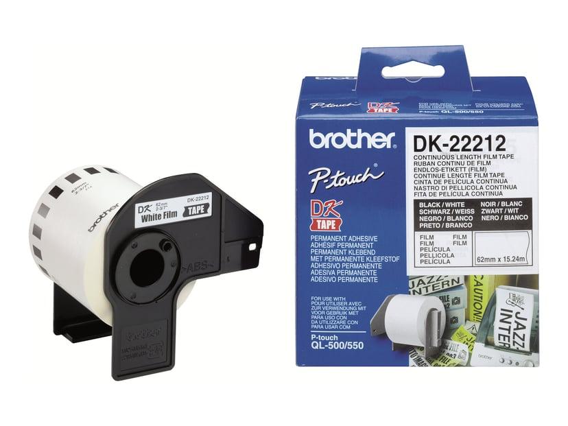 Brother Tape Width Plastic Svart/Hvit 62mm X 15,24m