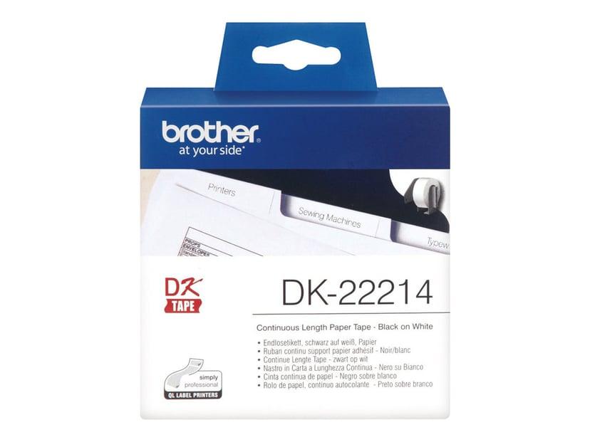 Brother Tape Paper 12mm X 30,48m Hvit