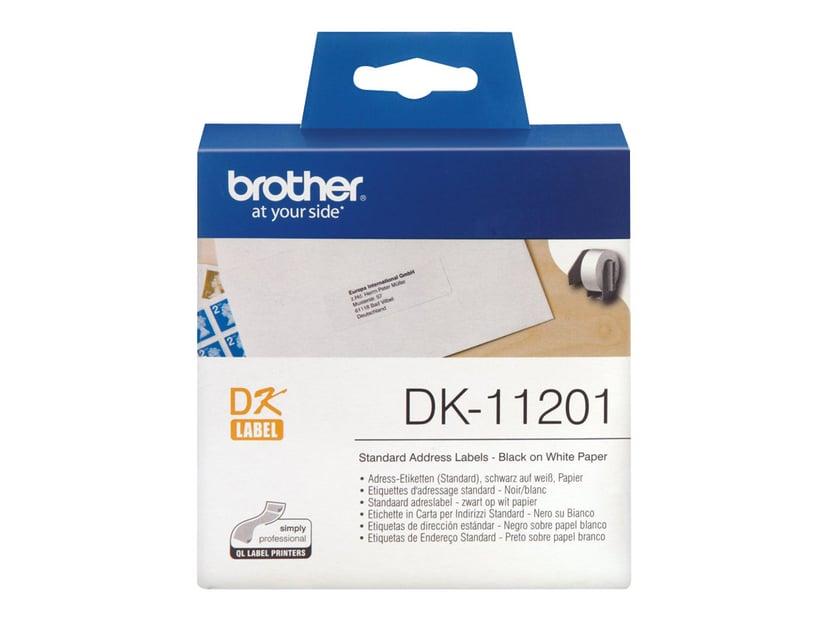 Brother Etiketter Adresse 29 x 90 mm 400 stk./rulle Hvid