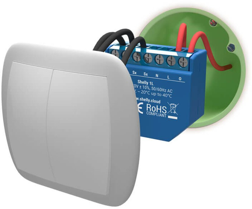 Shelly 1L WiFi Relay 4.1A 1000W
