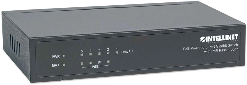 Intellinet 5-port Switch with PoE Passthrough