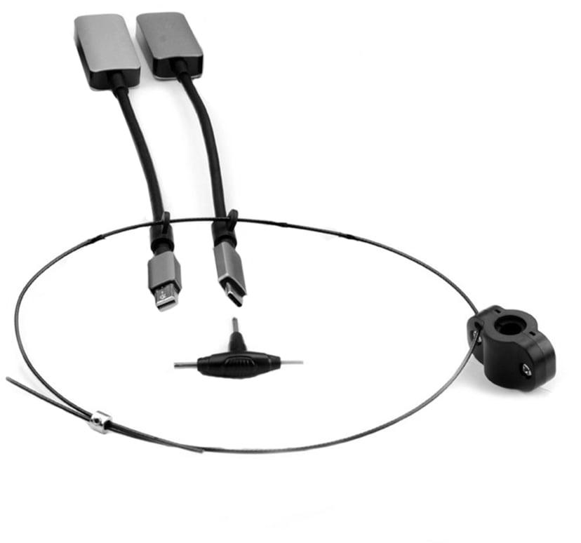Prokord Video Adapter Kit Premium Minidp+USB-C DisplayPort Mini, USB-C Hane HDMI Hona Svart