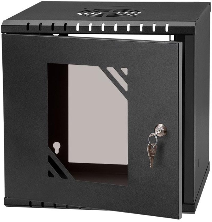 """Direktronik Wall Rack 10"""" 6U Glass Door"""