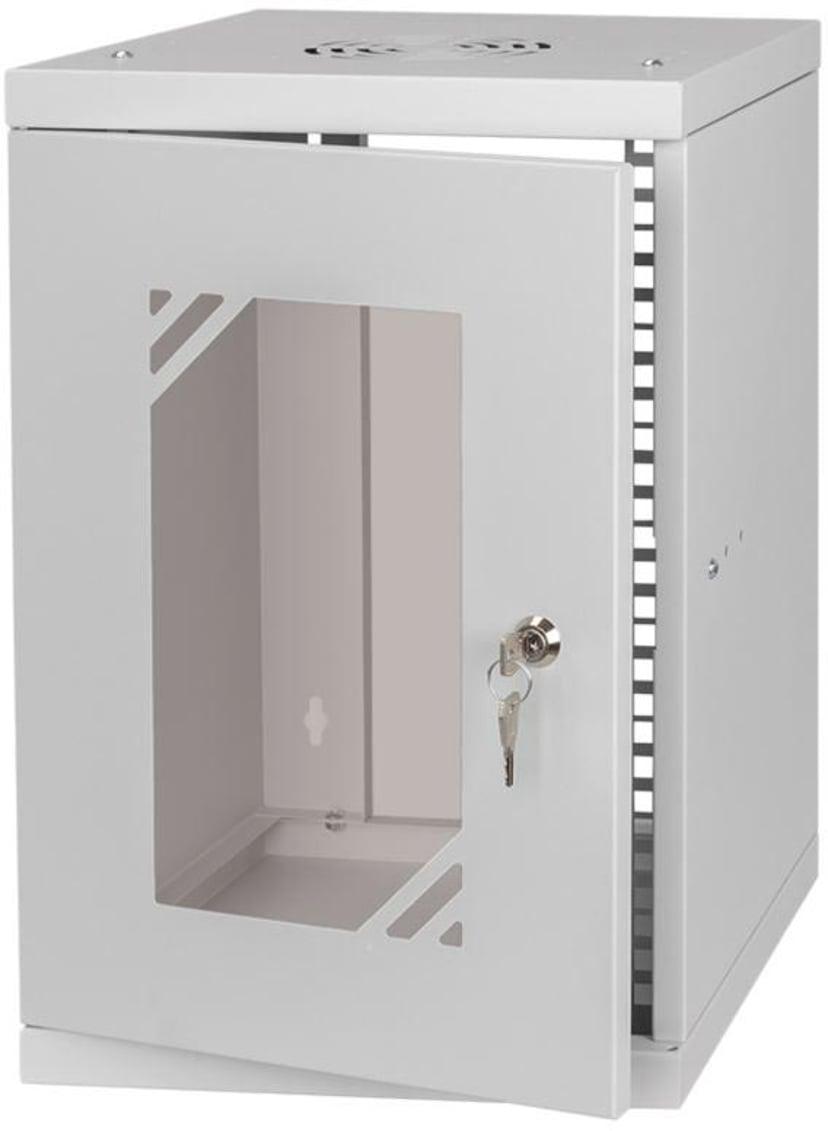 """Direktronik Wall Rack 10"""" 9U Glass Door"""