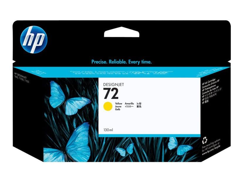 HP Blekk Gul No.72 - T1100 130ml