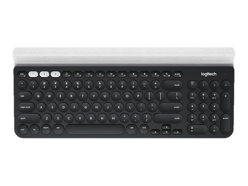 Logitech K780 Multi-Device Toetsenbord Draadloos VS internationaal Wit, Zwart
