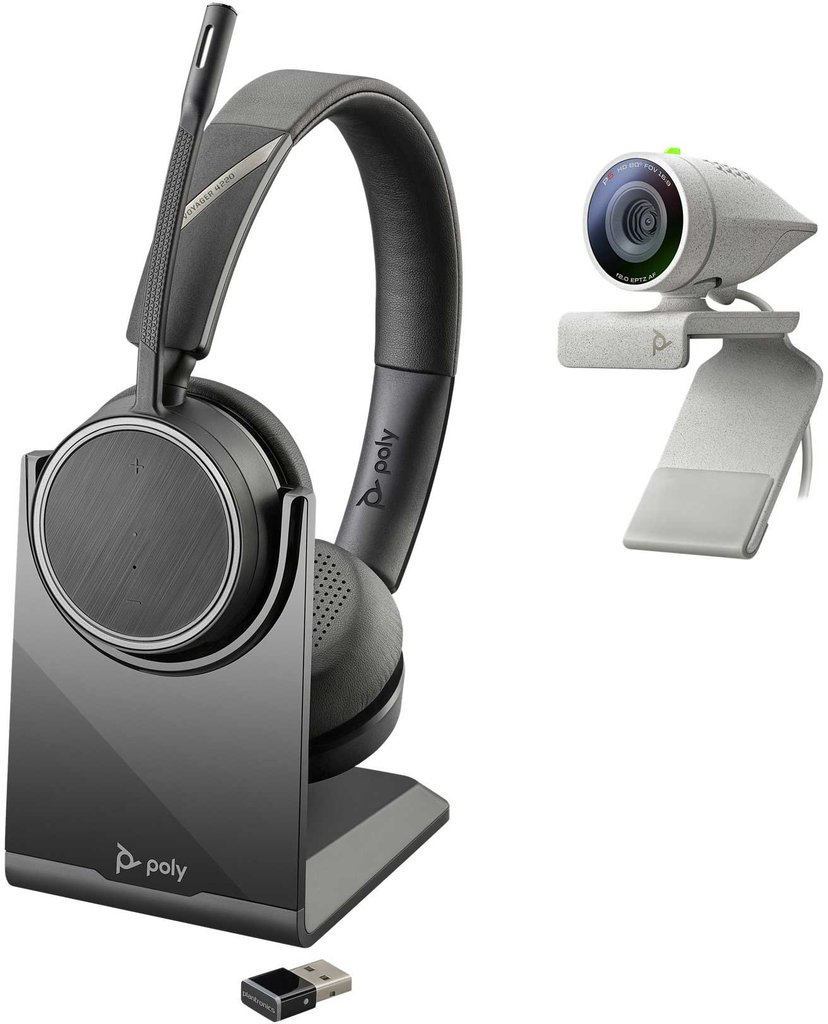 Poly Studio P5 Kit med Poly Voyager 4220 UC Headset