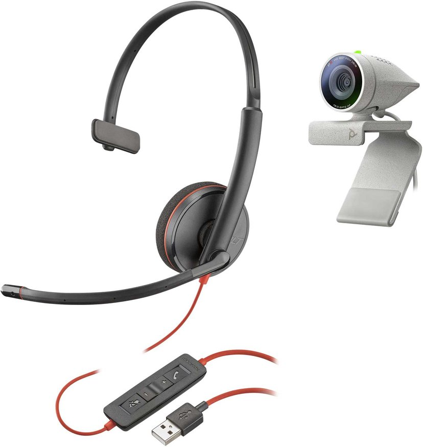 Poly Studio P5 Kit med Poly Blackwire 3210 Headset