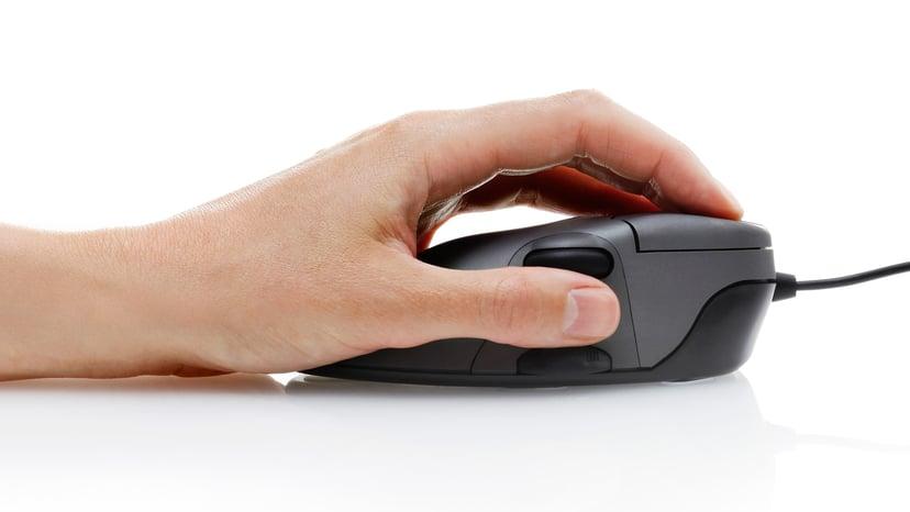 Contour Design Mouse Medium - Vänsterhänt Mus Kabelansluten