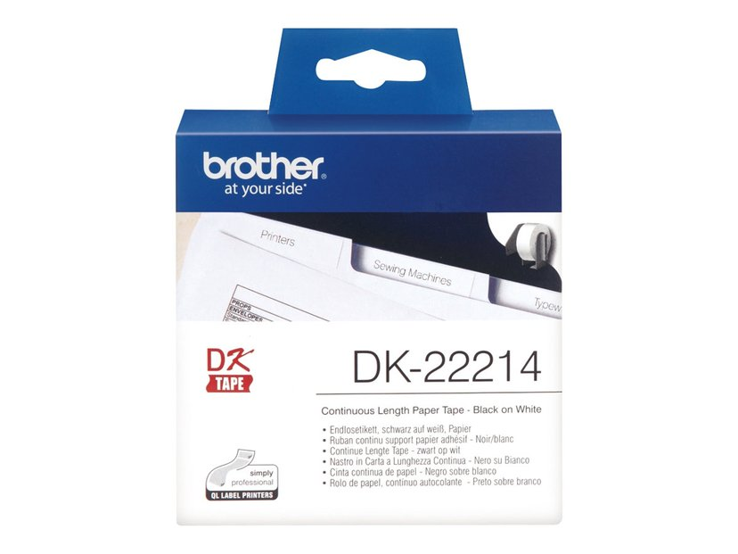 Brother Tape Paper 12mm X 30,48m Hvid