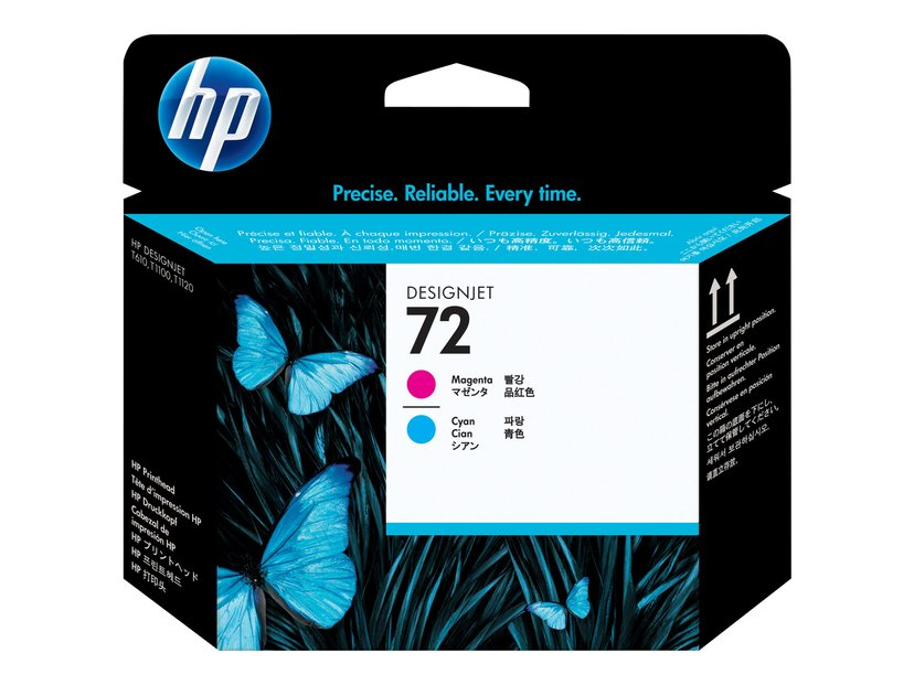 HP Printerhoved No.72 Magenta & Cyan - T1100